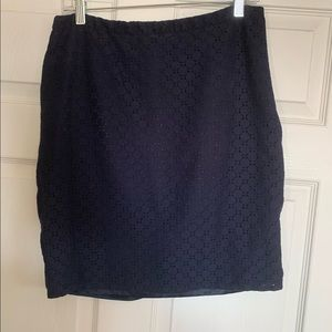 The Limited navy lace skirt